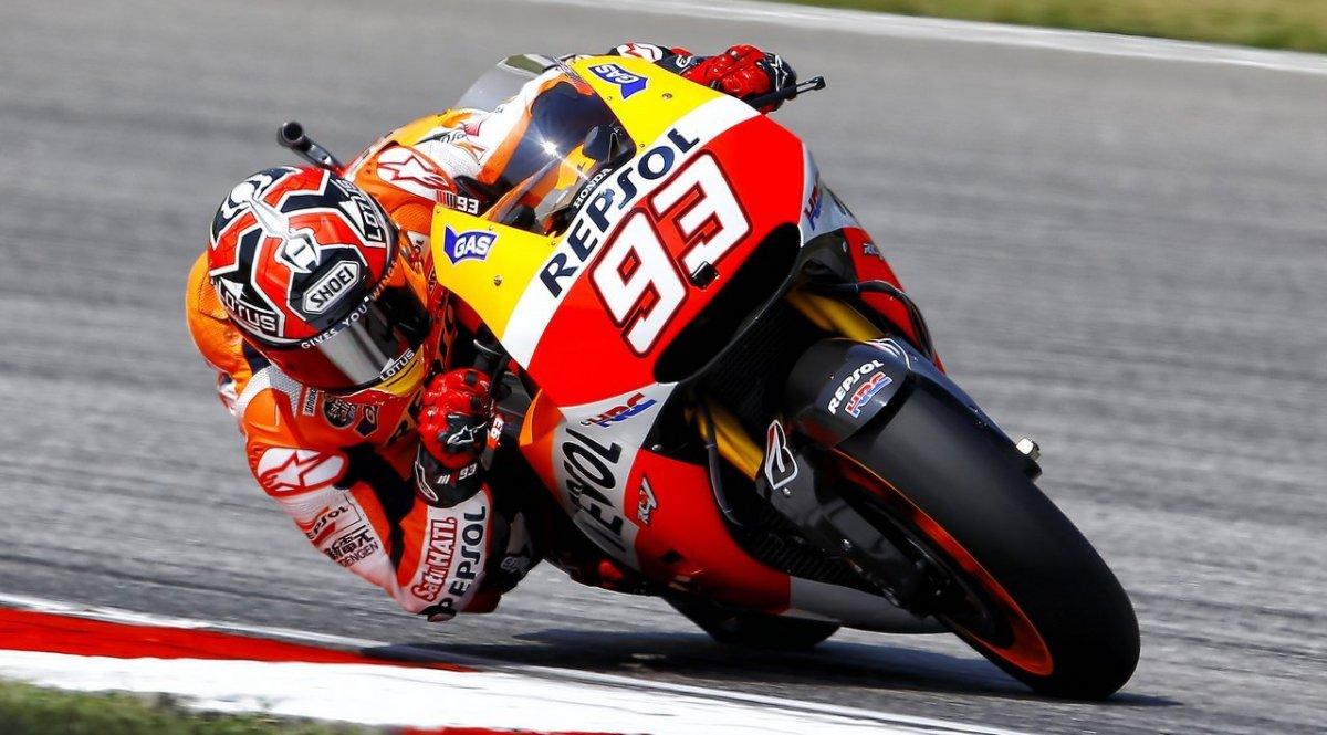Márquez saldrá desde la Pole Position junto con Pedrosa y Lorenzp