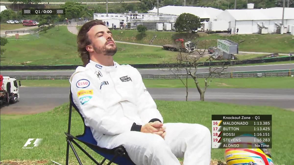Los 7 mejores memes del abandono de Fernando Alonso en Brasil
