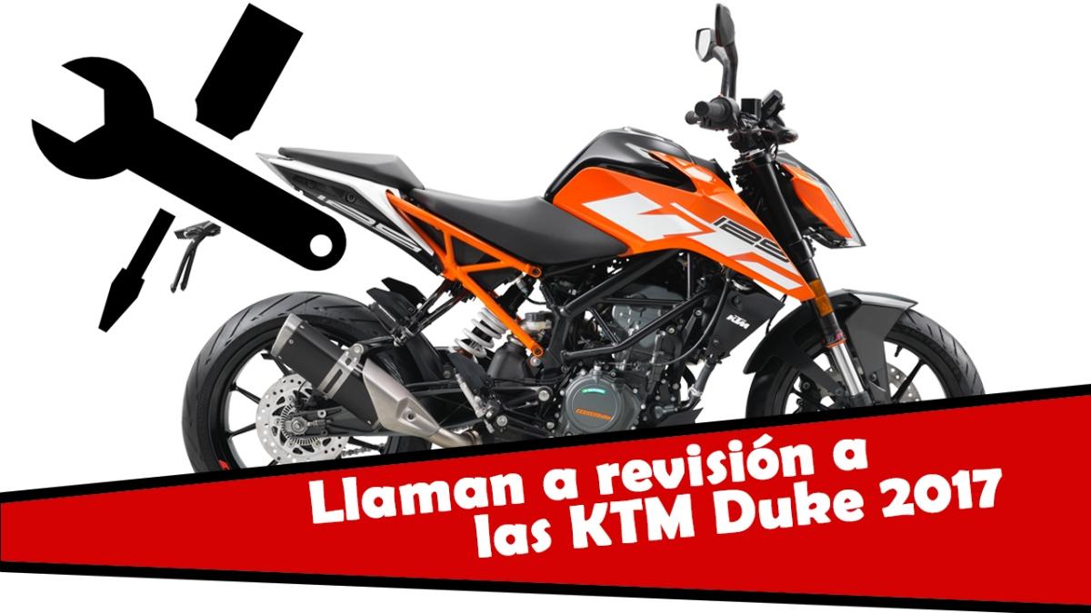 Llamadas a revisión KTM Duke 125 y 390