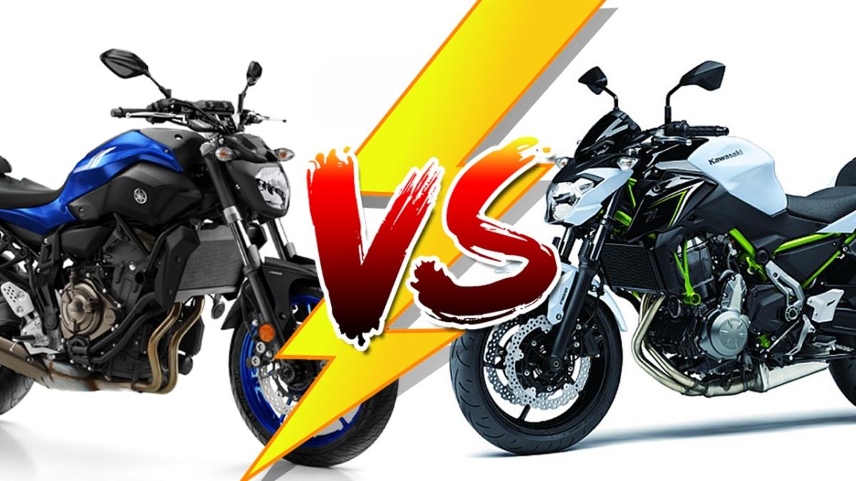 Yamaha MT07 VS Kawasaki Z650